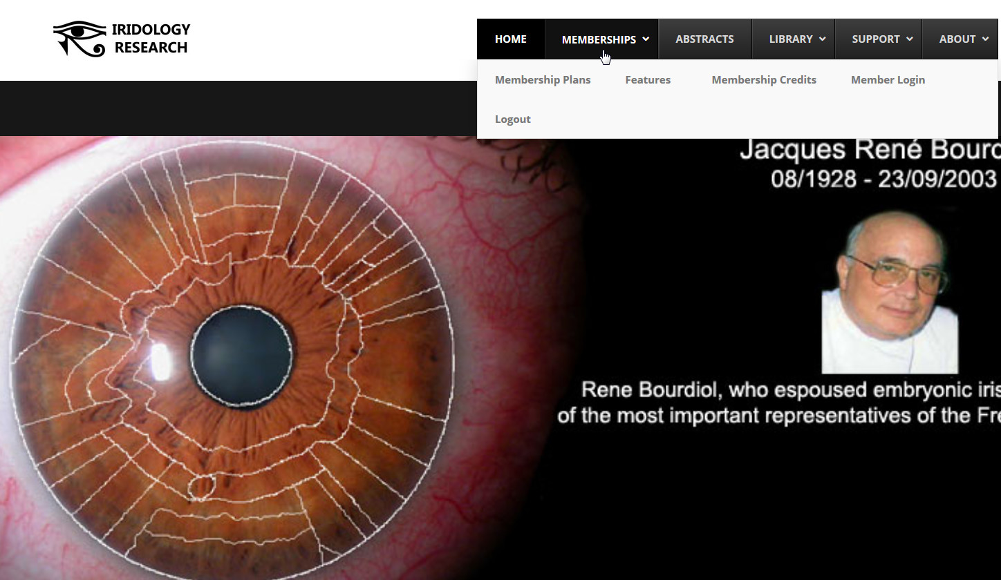 Iridology Research Membership Site